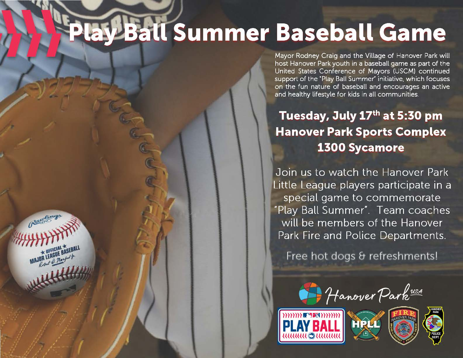Play Ball Summer Game 2018 Flyer
