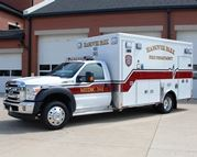 A white ambulance.